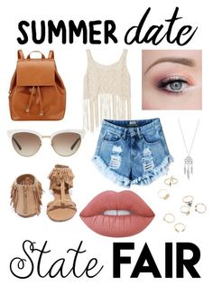 """Date to the Fair!"" by absolutely-mia on Polyvore featuring Qupid, Barneys New York, Gucci, Lime Crime, Lucky Brand, statefair and summerdate"