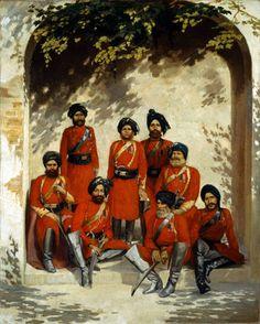 Ufficiali dell'esercito indiano e sottufficiali, 2 ° Reggimento di Cavalleria 1863 (c)