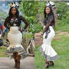 Trendy Ankara Fashion Styles When Ankara meets added fabrics, abracadabra is created! South African Dresses, African Print Dresses, African Print Fashion, African Fashion Dresses, Ankara Fashion, African Wedding Attire, African Attire, African Wear, African Women