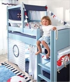 Fantasy Boys Bed/ Lifebuoy Cabin Bed / Designer Mid Sleeper Beds