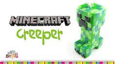 CREEPER Minecraft Polymer Clay tutorial / Creeper de arcilla polimérica
