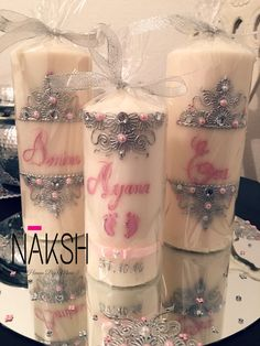 Henna candles.. newborn baby girl