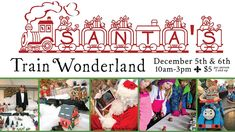 This community event is taking place on December 5th & 6th, 2015 and we hope to see many families and children come out to enjoy the holiday extravaganza. $5 ticket price includes games, light snacks, hot cocoa, a craft-in-a-bag, face painting, photo booth, and rooms full of model and interactive train displays. Santa will make a couple appearances throughout the day.  Exclusive VIP Sessions with Santa are also available at $20 per child. More details on our website.