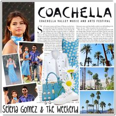 Selena Gomez & The Weekend by queenrachietemplateaddict on Polyvore featuring HVN, LE3NO, Superga, Majorica, H&M and Kershaw