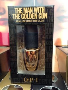 """LIMITED EDITION OPI NAIL POLISH """"The man with the golden gun"""" 18k gold top coat for $40!?... whoa... talk about having a hand in wealth..."""