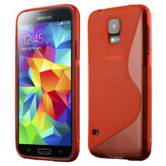 Cruzerlite S-Line TPU Case for the Samsung Galaxy S5 - Retail Packaging - Red on http://phone.kerdeal.com/cruzerlite-s-line-tpu-case-for-the-samsung-galaxy-s5-retail-packaging-red