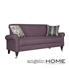 angelo:HOME Harlow Purple Grape Twill Sofa | Overstock.com Shopping - The Best Deals on Sofas & Loveseats, $440
