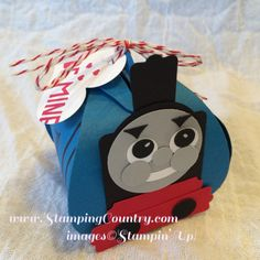 Thomas Train Treat Box, Valentine, Curvy Keepsake Box, Punch Art, Stampin' Up!
