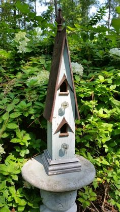 1800's jamb casing birdhouse.