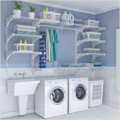 Tạo không gian lưu trữ phong cách cho phòng giặt là