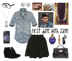 """""""First date with Zayn"""" by kelsey3490-1d ❤ liked on Polyvore featuring Juicy Couture, Hollister Co., Miss Selfridge, TOMS, Mulberry, Ciaté, Yves Saint Laurent, Bare Escentuals, one direction and zayn malik"""