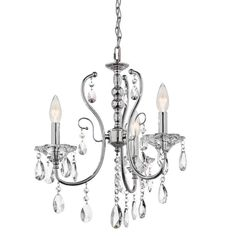 """View the Kichler 43120 Jules Single-Tier Mini Chandelier with 4 Lights - 72"""" Chain Included - 17 Inches Wide at LightingDirect.com."""