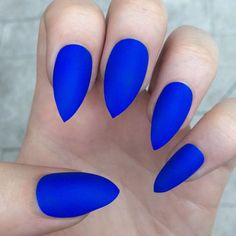 Stiletto nails, fake nails, matte nails, from nailsbykate on Etsy