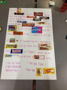 Valentines day candy poster valentine's day birthday candy p Birthday Candy Posters, Candy Bar Posters, 50th Birthday Quotes, Mom Birthday Crafts, 80th Birthday Gifts, Valentines Day Birthday, Valentine Ideas, Birthday Bash, Boyfriend Anniversary Gifts