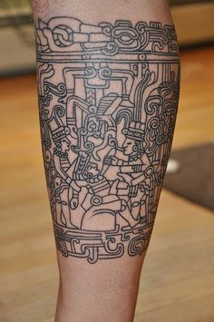 Gino's Mayan Tattoo by jackiesheeran, via Flickr