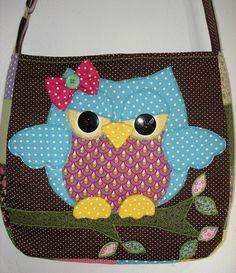 Resultado de imagem para bolsa coruja patchwork