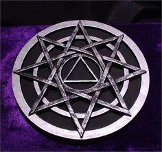 Druid Magic Symbols | Druids Star & Magickal Octagram SILVER Altar Tile