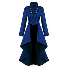 Magician Plus Size Women Gothic Steampunk Button Jacket Female Lace Corset Halloween Costume Long Coat Ladies Solid Tailcoat Moda Steampunk, Corset Steampunk, Steampunk Jacket, Victorian Steampunk, Steampunk Costume, Steampunk Fashion, Steampunk Outfits, Victorian Coat, Victorian Costume