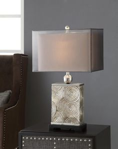Mancini Table Lamp at Lucas Furniture Transitional Lighting, Transitional Living Rooms, Transitional Style, Transitional Kitchen, Contemporary Bedroom Furniture, Furniture Design, Living Room Kitchen, Table Lamp, Interior
