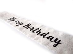 Trendy Its My Birthday White Lace Sash by Express Novelties Online * You can find out more details at the link of the image. (This is an affiliate link)