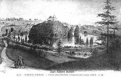 Parc des Buttes Chaumont vers 1867.