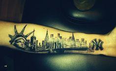 Tatuajes de Ciudades: Nueva York - http://www.tatuantes.com/tatuajes-de-ciudades-nueva-york/