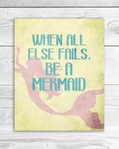 Mermaid Art Print Mermaid quote Mermaid by SmartyPantsStudio, $16.00