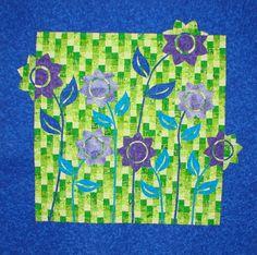 Shadow garden quilt.  So beautiful.