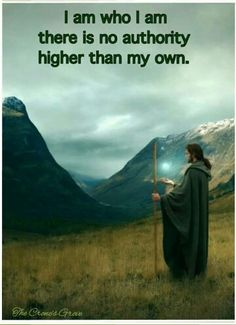 There is no authority higher than my own!