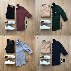 """Your casual clothes are the ones you wear on your own time. It's hard to put boundaries on what pieces of clothing count as """"casual"""" and wh. Modern Mens Fashion, Big Men Fashion, Men's Fashion, Urban Fashion, Lifestyle Fashion, Trendy Fashion, Fashion Design, Business Casual Men, Men Casual"""