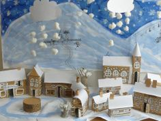 Cardboard town Ceiling Lights, Table Decorations, Lighting, Furniture, Home Decor, Decoration Home, Room Decor, Lights, Home Furnishings