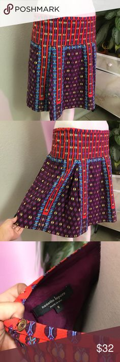 NANETTE LEPORE SZ 8 or L PATTERN SKIRT CHIC Beautiful chic skirt Nanette Lepore Skirts