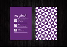 Purple Business Card Design by MioPrint