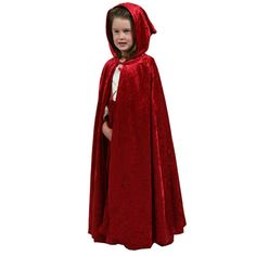 Cloak - Kids Red Dress-up Costume Cape by Little Adventures