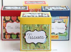Tissue Boxes for Teachers by krafting kelly, via Flickr