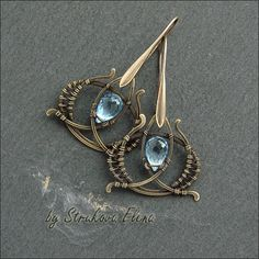 """(These are so exquisite!  Also, I LOVE the color combo of """"light sapphire"""" and antique brass.)"""