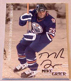 Mike Grier Autograph 1999-2000 BAP Millennium Signature Series Signed Card #102 NHL Edmonton Oilers