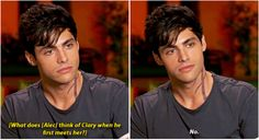 What does Alec think of Clary when he first meets her? || Shadowhunters cast || Matthew Daddario || Alec Lightwood