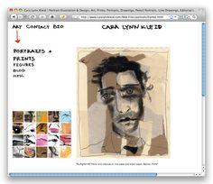 Artist Portfolio Website by Cara Lynn Kleid, via Behance