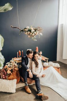 Eye-Catching Tassel Backdrop in this Modern Boho Wedding Inspiration Wedding Shoot, Boho Wedding, Floral Wedding, Wedding Ceremony, Destination Wedding, Dream Wedding, Bohemian Weddings, Wedding Dreams, Industrial Wedding Venues