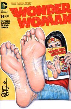 Wonder Woman Barefoot Infinity by scottblairart