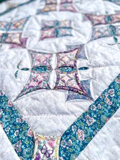 Cathedral Window Quilts, Cathedral Windows, Liberty Of London Fabric, Liberty Fabric, Liberty Quilt, Fabric Online, Notre Dame, Quilting, Butterfly