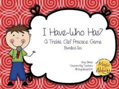 I Have/Who Has? Treble Clef Word Game, Bundled Set