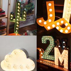 Luminárias em Letra Caixa criadas pelo designer paulista Eduardo Vicentini para A Casa que Tem;