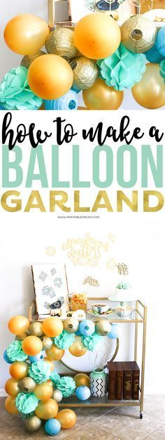 Learn how to make this DIY Balloon Garland...it's easier than you think!