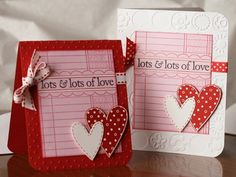 Waiting for two of my sweet little Valentines to wake up so thought I'd post their cards. Happy Hearts  Day everyone! ♥  Tami  Hero Arts stamps:  CL402 Valentine Sayings CG113 Write Your Own CG160 Hearts Trio