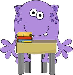 Monster in School Clip Art - Monster in School Image