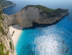 Navagio Beach, Zakynthos, Greece - Beautiful Places to Visit Places Around The World, Oh The Places You'll Go, Places To Travel, Around The Worlds, Beautiful Places To Visit, Beautiful Beaches, Beautiful World, Hidden Beach, Dream Vacations