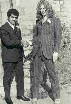 Robert Plant all suited up for a very special occasion... His wedding? :)
