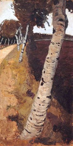 Landscape with Birches Paula Modersohn-Becker - circa 1901